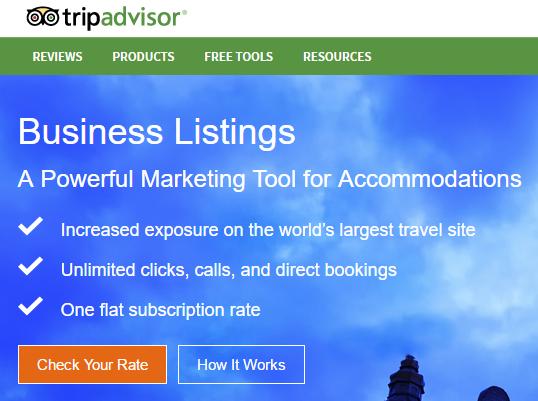 TripAdvisor Business Listing