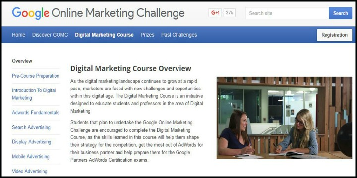 Google's Digital Marketing Course