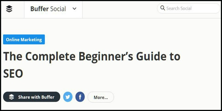 The Complete Beginner's Guide to SEO by Buffer