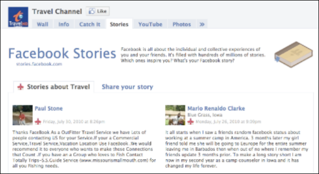 FB Travel Channel Story