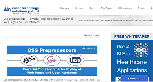 CSS Preprocessors – Powerful Tools for Smarter Styling of Web Pages and User Interfaces