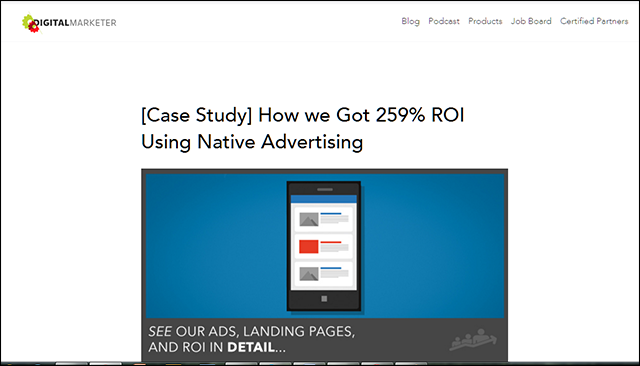 Case Study  How we Got ROI Using Native Advertising