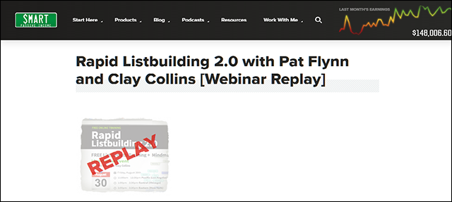 Rapid Listbuilding 2.0 with Pat Flynn and Clay Collins