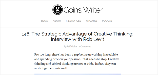 146: The Strategic Advantage of Creative Thinking: Interview with Rob Levit