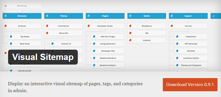 Visual Sitemap WordPress