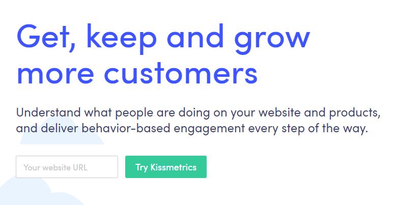 Kissmetrics' Customer Focused Website