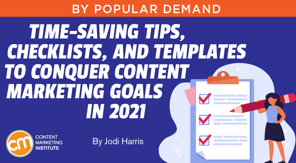 templates for content marketing goals